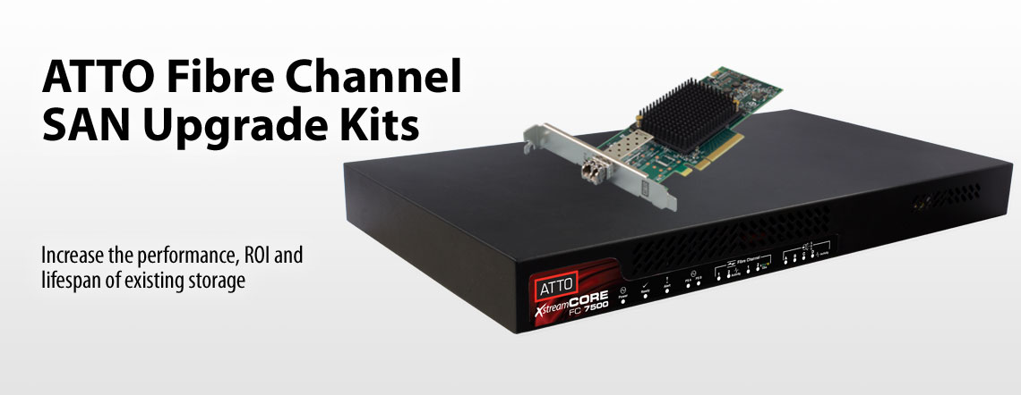 ATTO Fibre Channel SAN Upgrade Kits. Increase the performance, ROI and lifespan of existing storage