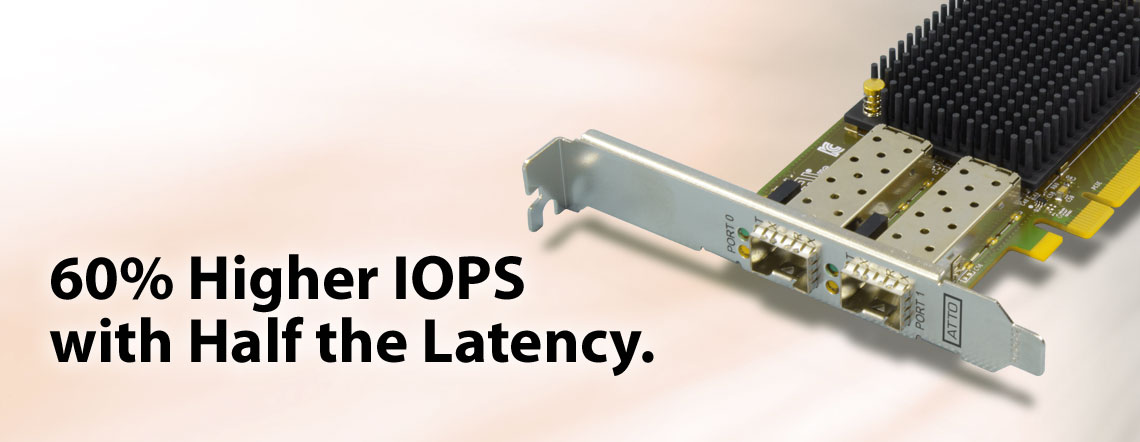 60% Higher IOPs with Half the Latency.