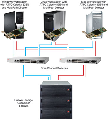 Huawei Fibre Channel Topology
